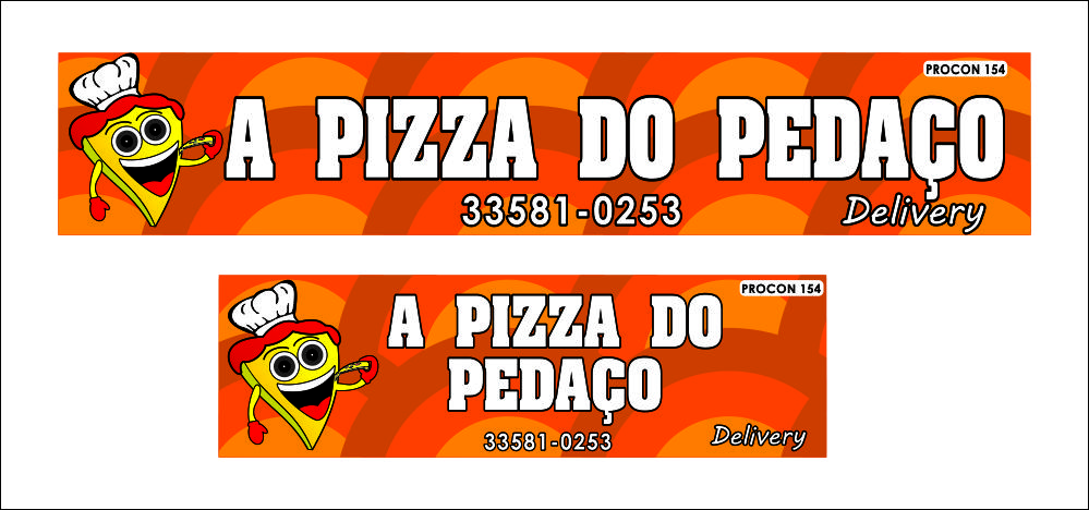 a pizza do pedaço