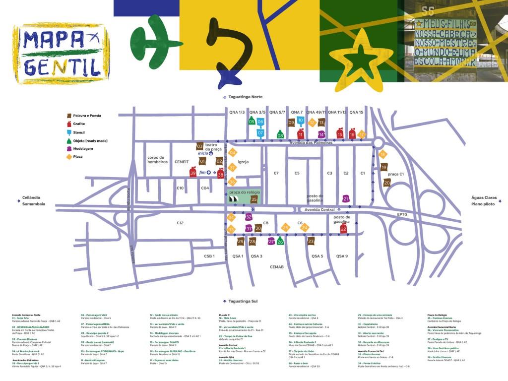 Mapa Gentil 2013 - Roteiro de Obras