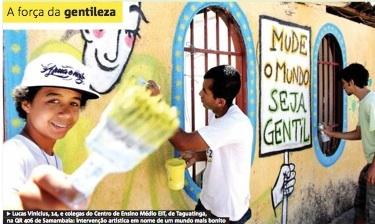 Mapa Gentil é capa do Jornal Metro
